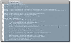 hasCode com » Blog Archive » How to build a Confluence SOAP client
