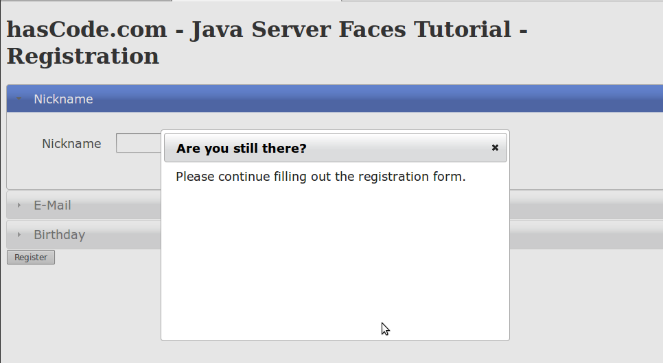 Using PrimeFaces to pimp up existing Java Server Faces / JSF