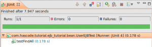 Running the test in Eclipse