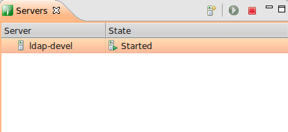 Viewing the LDAP server status in Eclipse