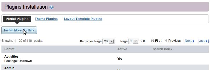 Portlet Deployment Step 4 - Install Portlet