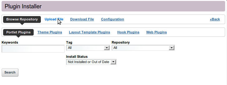 Portlet Deployment Step 5 - Upload File