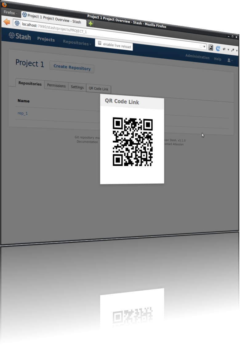 QR Code links in Stash's Project Overview