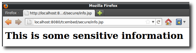 Viewing the secured JSP in the browser
