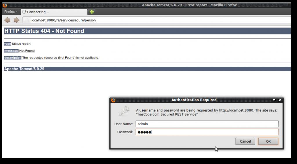 Basic Authentication secured REST Service