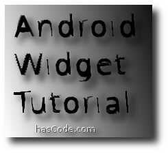 hasCode Android Widget Tutorial Logo