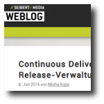 Seibert Media Blog: Continuous Delivery in practice - Deployment at the press of a button and release management with Bamboo (german language) (web)