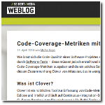 Seibert Media Blog: Code Coverage Metrics with Bamboo and Clover (german language)