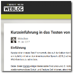 Seibert Media Blog: Short Introduction into writing Webservice Tests with Karate (german language) (web)