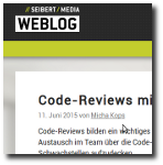 Seibert Media Blog: Code Reviews with Stash and SonarQube (german language) (web)