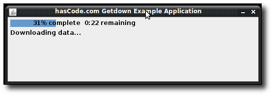 getdown updater without a background image