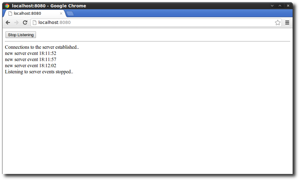 Receiving HTML5 Server-Send Events in Chrome