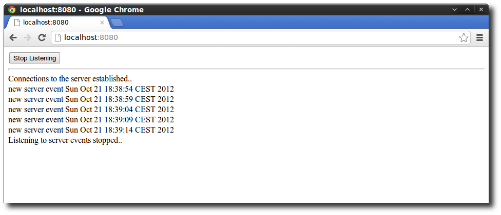 Receiving SSEs in Chrome with a Jetty Server