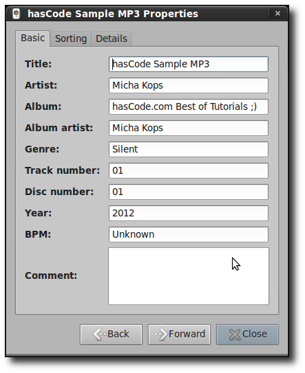 MP3 Properties