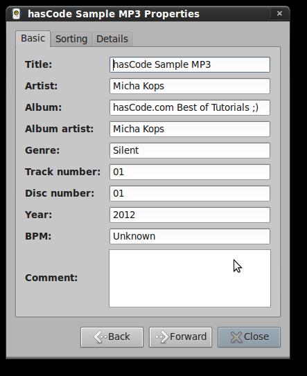MP3 Properties
