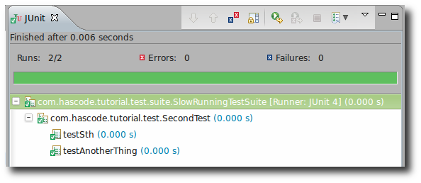 JUnit Test Suite for slow-running tests