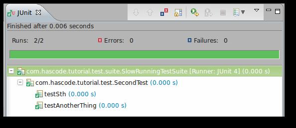 JUnit Test Suite for slow-running tests