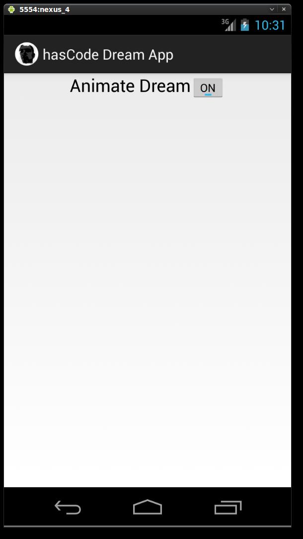 Dream Configuration Panel