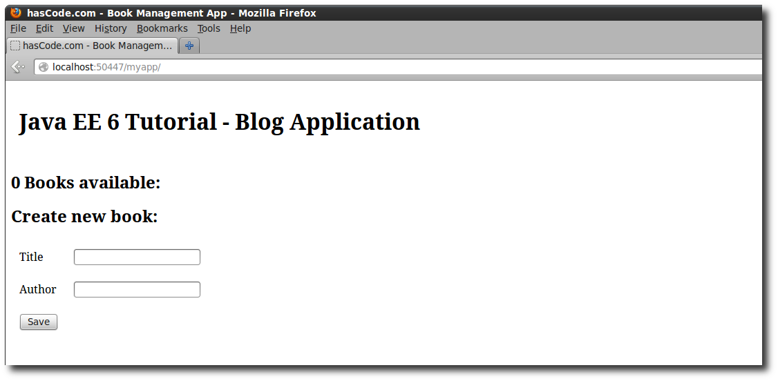 Running the JEE Web Application