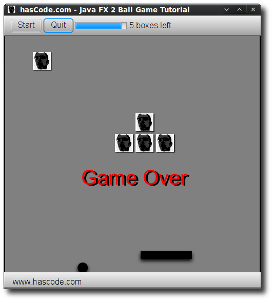 Game Screen - GameOver