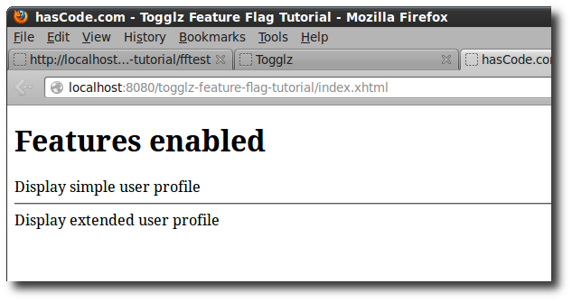 Togglz JSF/Facelet Integration