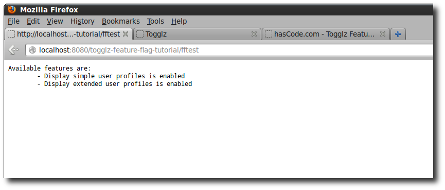 Feature flag check in a servlet