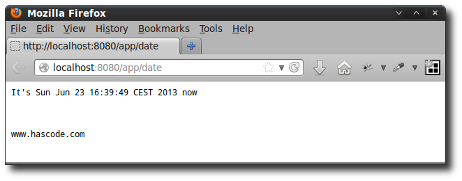 The Date Servlet in the Browser