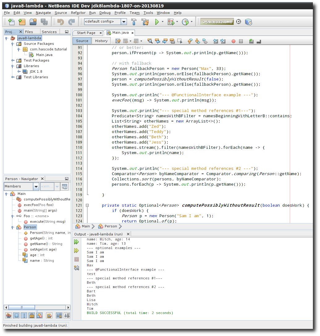 Hascode blog archive playing with java 8 lambda expressions lambda hacking using the netbeans developer version baditri Images