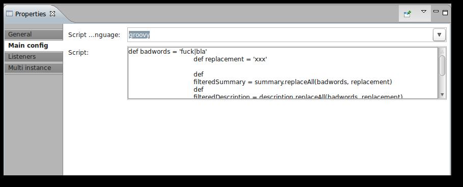 Groovy Script Task in the Activiti Designer
