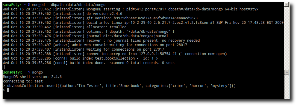 MongoDB Console