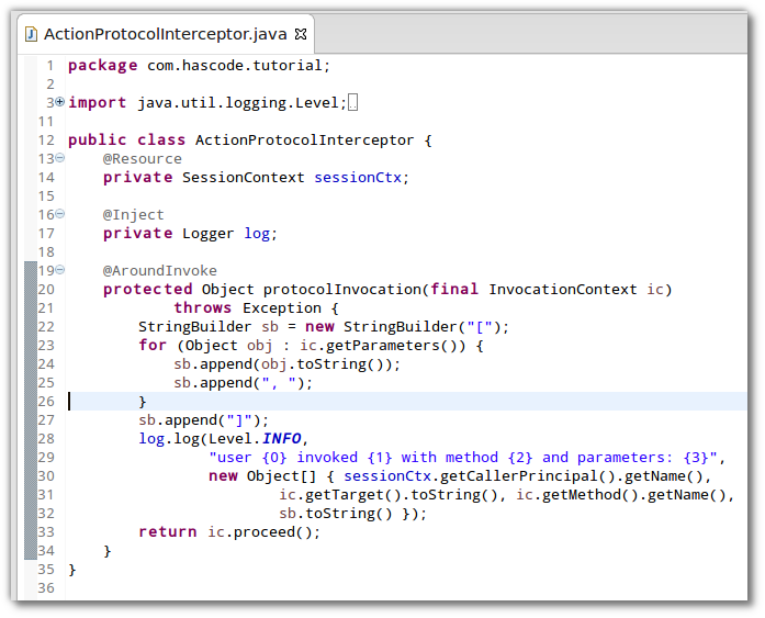 Java EE 7 Around Invoce Interceptor
