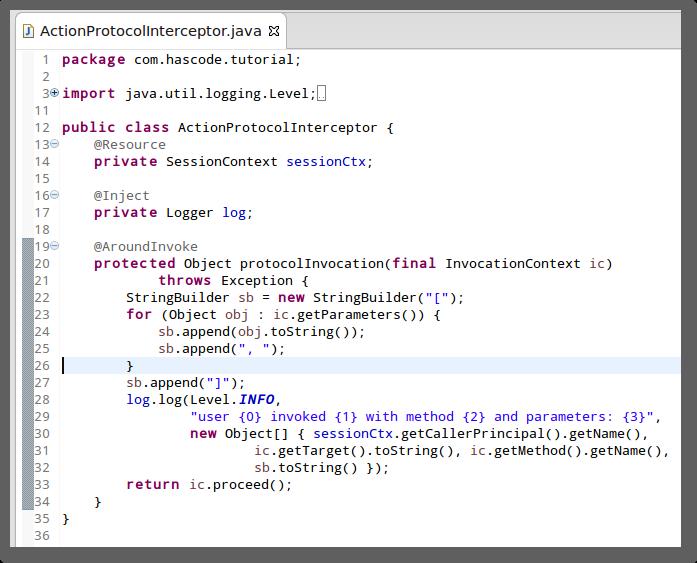 Java EE 7 Around Invoce Interceptor