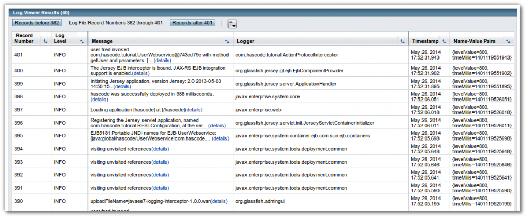 GlassFish Log Viewer