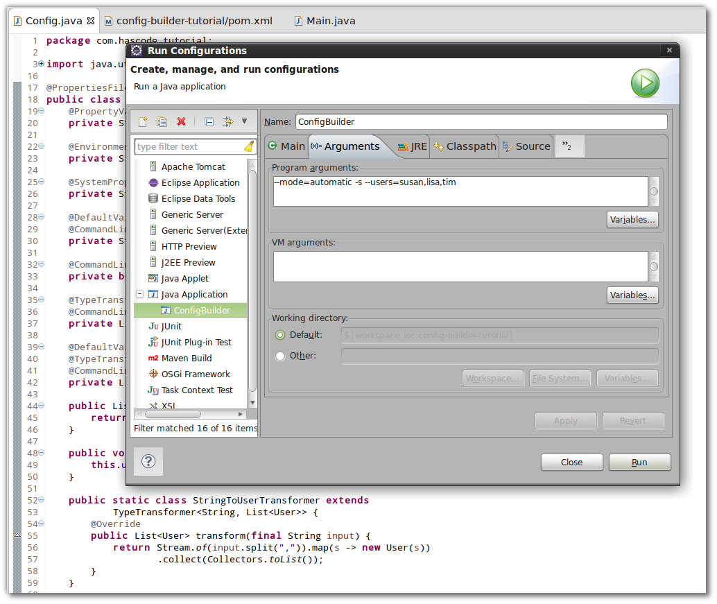 Hascode blog archive using java config builder to assemble run configuration in eclipse ide baditri Choice Image