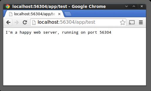 Web Application running on a random port