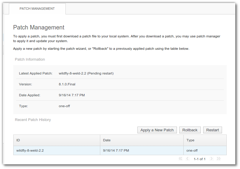WildFly Patch Management