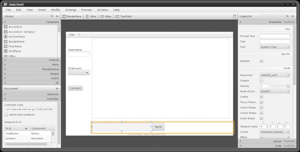 JavaFX Scene Builder