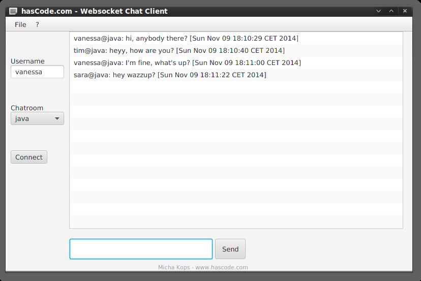 JavaFX Chat Client