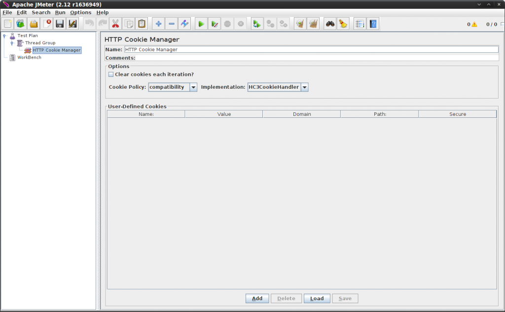 Adding a cookie manager in JMeter