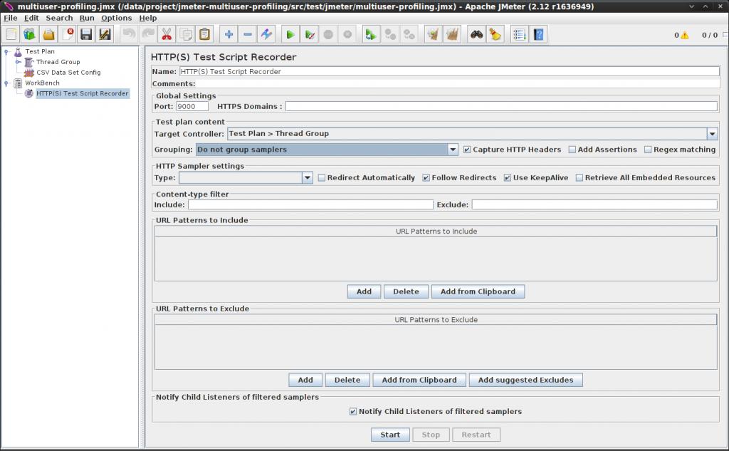 Adding a HTTP Test Script Recorder in JMeter