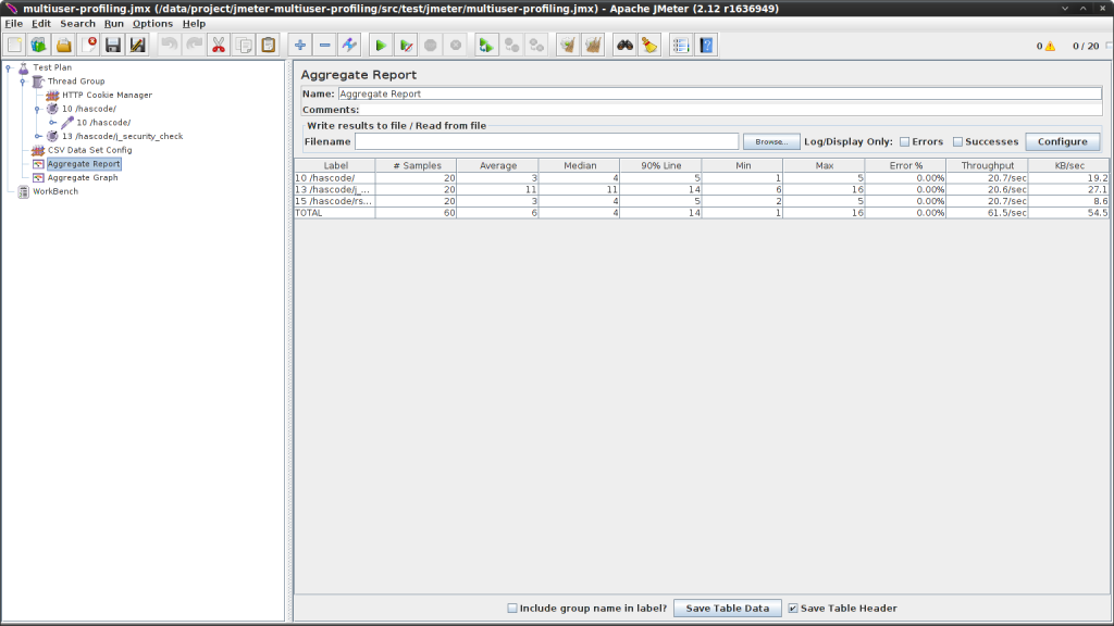 Adding simple Aggregate Report in JMeter