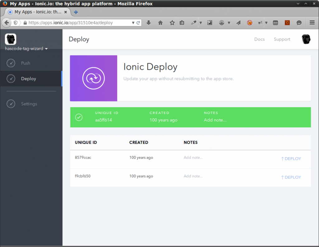 Managing app deployments with Ionic.io