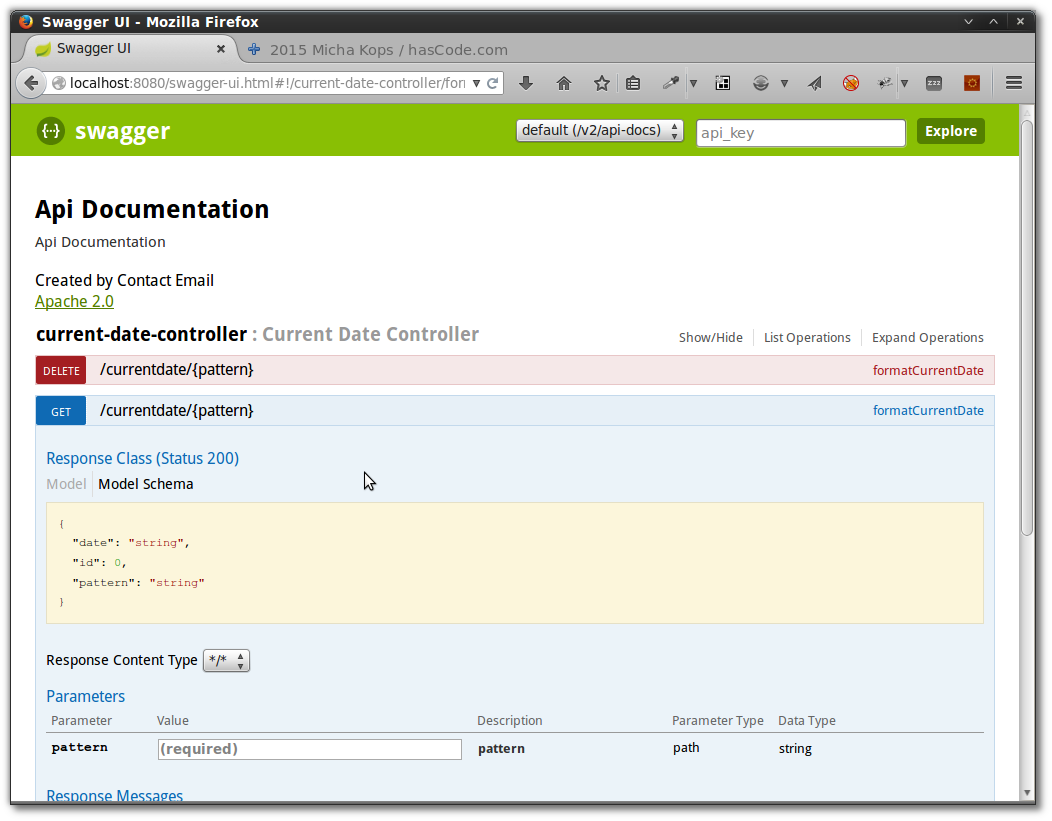 hasCode com » Blog Archive » Integrating Swagger into a Spring Boot