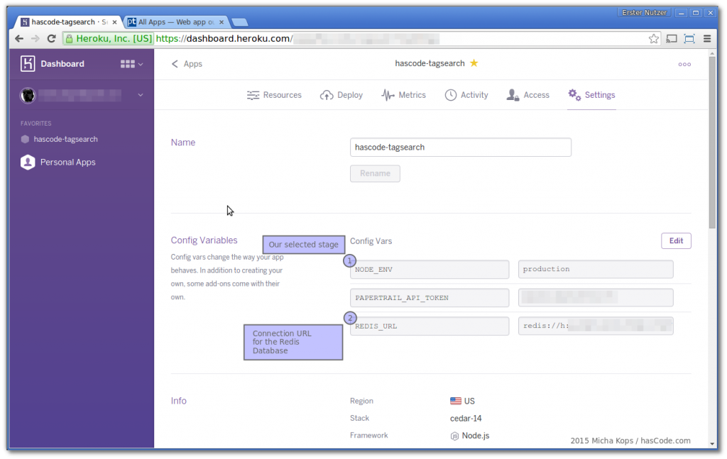 Configuration Variables Overview in Heroku