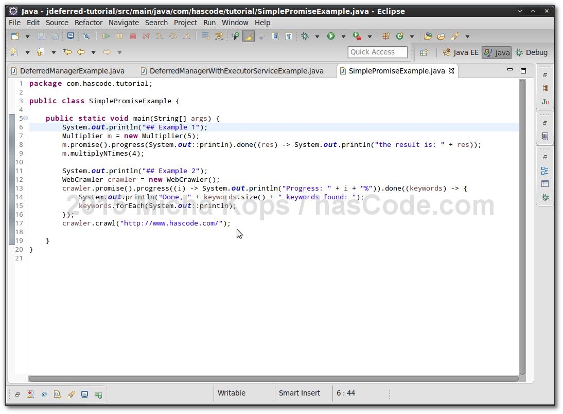 Hascode blog archive using deferred objects and promises jdeferred examples running in eclipse ide baditri Images