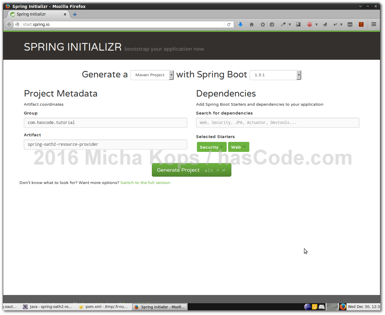 Setting up an OAuth2 Authorization Server and Resource