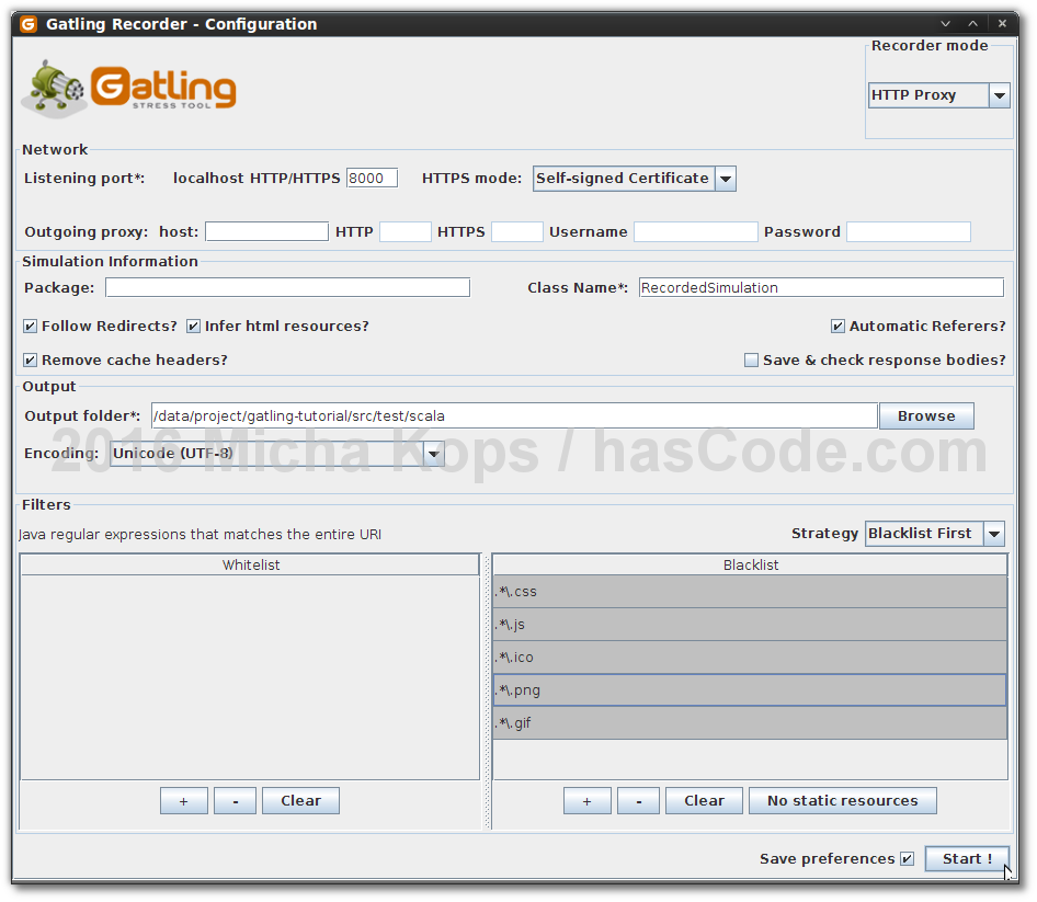 Gatling Simulation Recorder