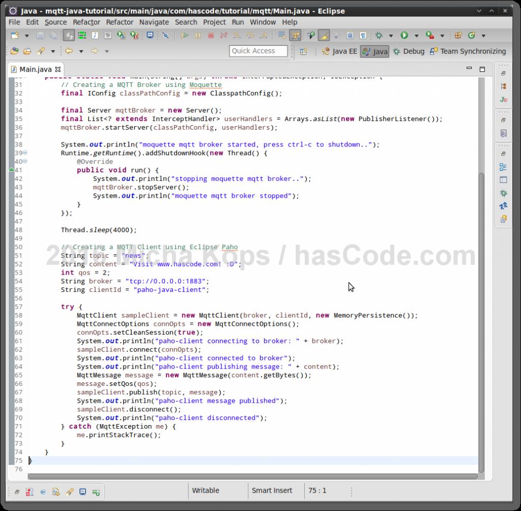 MQTT Sample Application