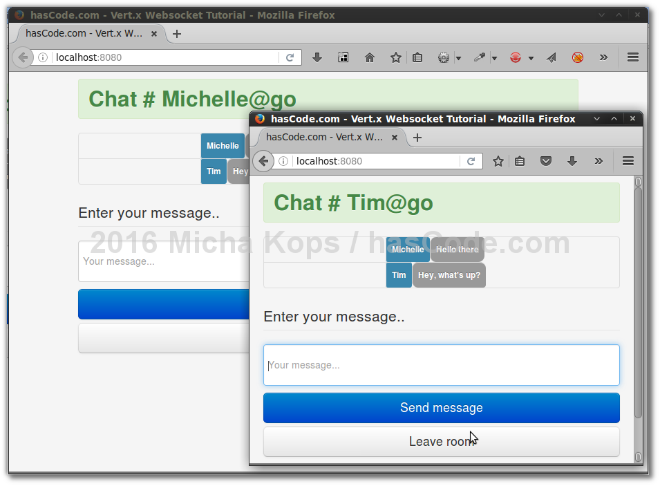 Websocket Chat in Action