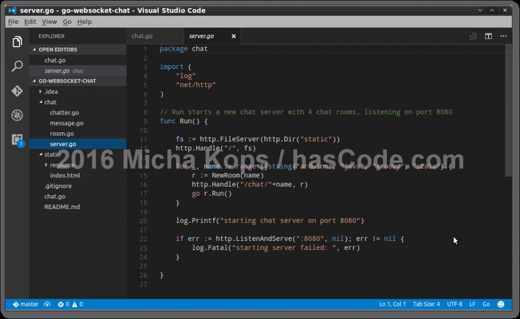 Go Websocket Chat Implementation